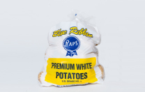 Premium white potatoes with out signature Blue Ribbon seal.